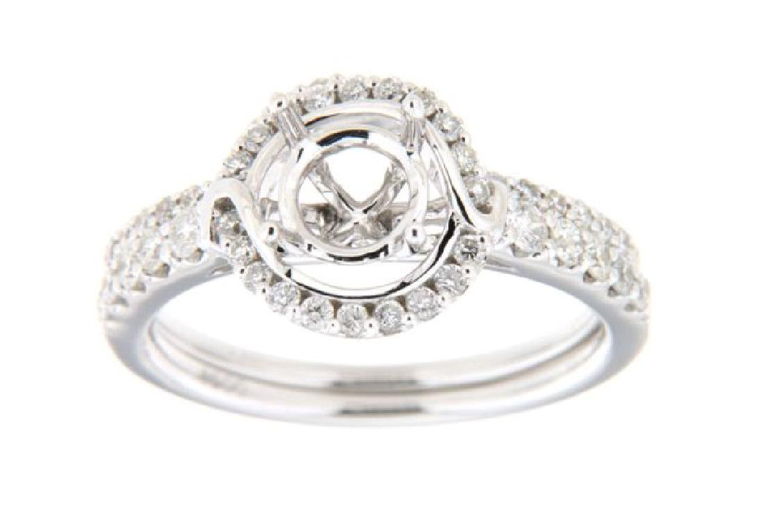 0.66CTW Diamond Engagement  Ring in 14K White Gold
