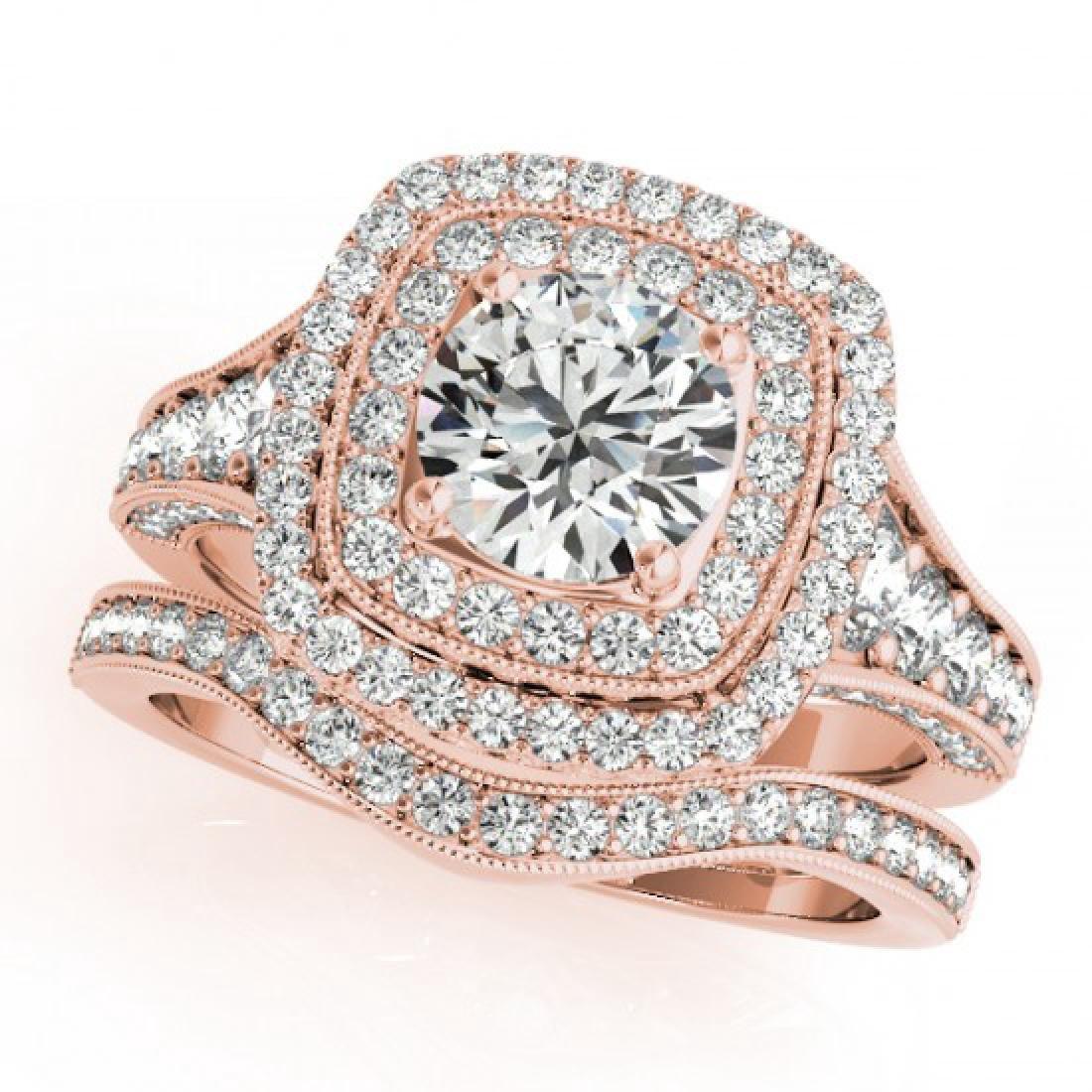 1.93 CTW Certified VS/SI Diamond 2Pc Wedding Set