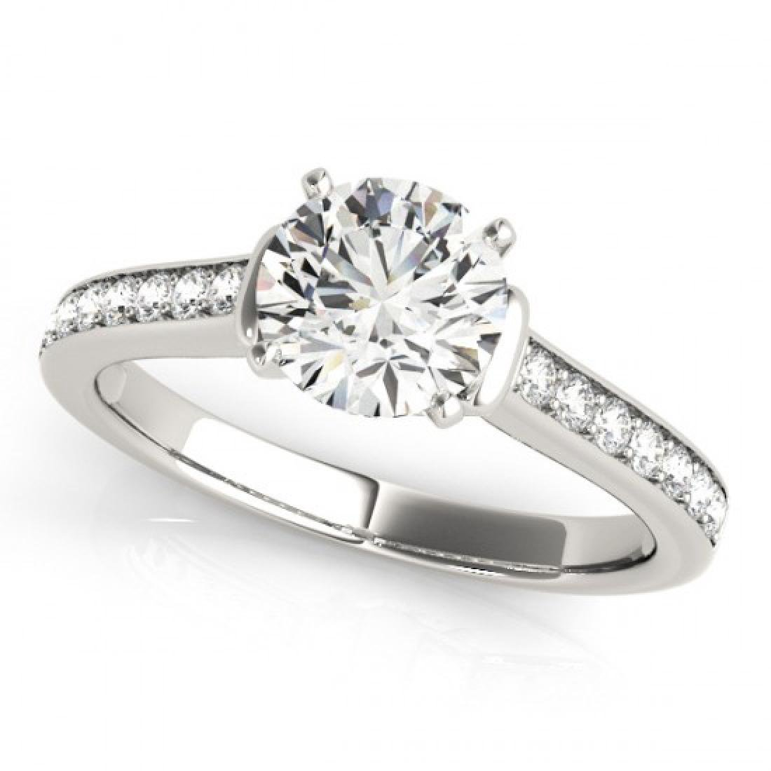 1.50 CTW VS/SI Diamond Solitaire Ring 18K White Gold