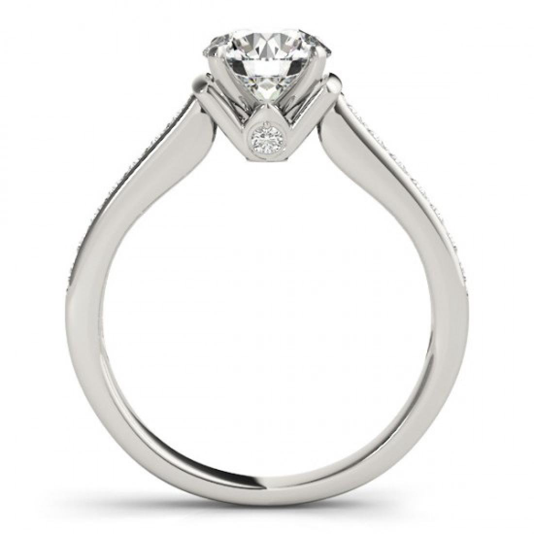 1.50 CTW VS/SI Diamond Solitaire Ring 18K White Gold - 2