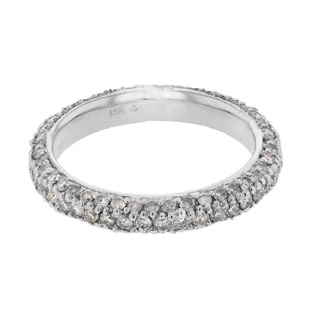1.5CTW Diamond Wedding Band 14K White Gold