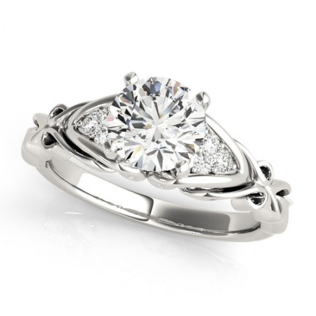 0.85 CTW VS/SI Diamond Solitaire Ring 18K White Gold