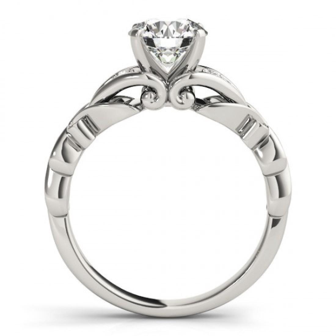 0.85 CTW VS/SI Diamond Solitaire Ring 18K White Gold - 2
