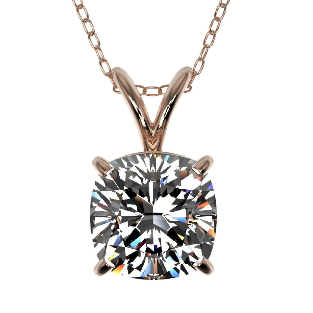 1.25 CTW VS/SI Quality Cushion Cut Diamond Necklace 10K