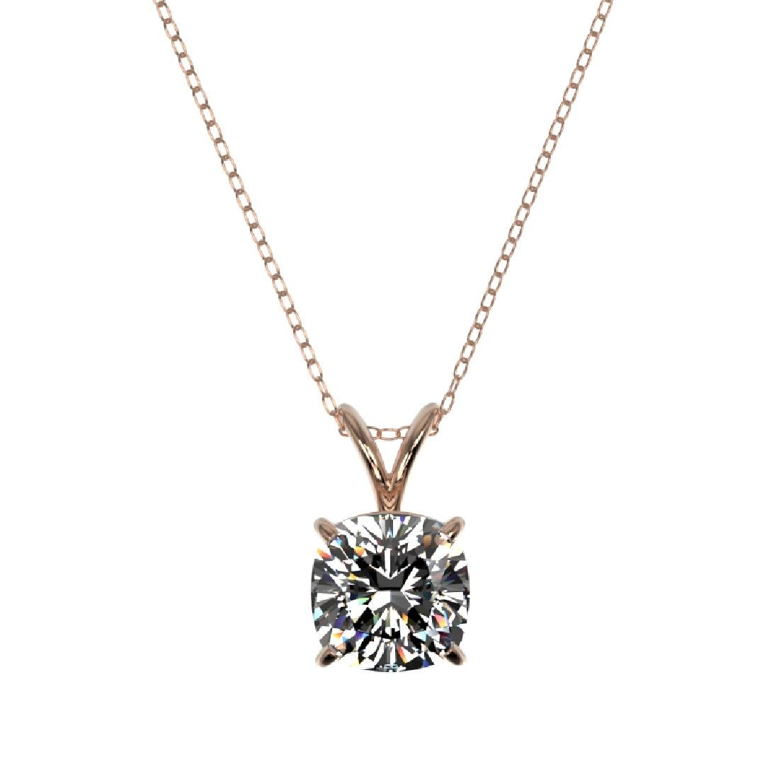 1.25 CTW VS/SI Quality Cushion Cut Diamond Necklace 10K - 3