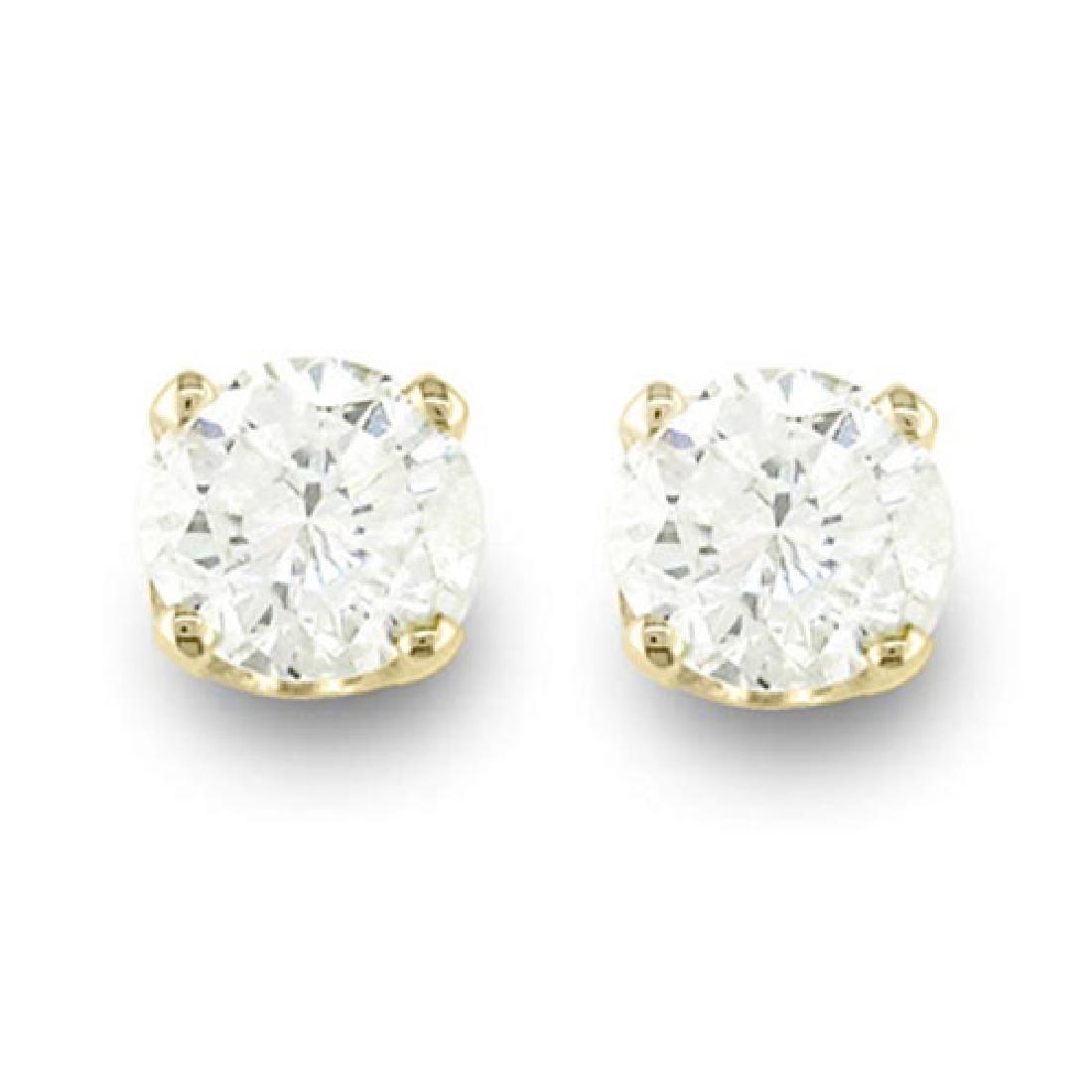0.20 CTW VS/SI Diamond Solitaire Stud Earrings 14K - 2
