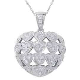 0.84 CTW White Round Diamond Slider with Chain 14K