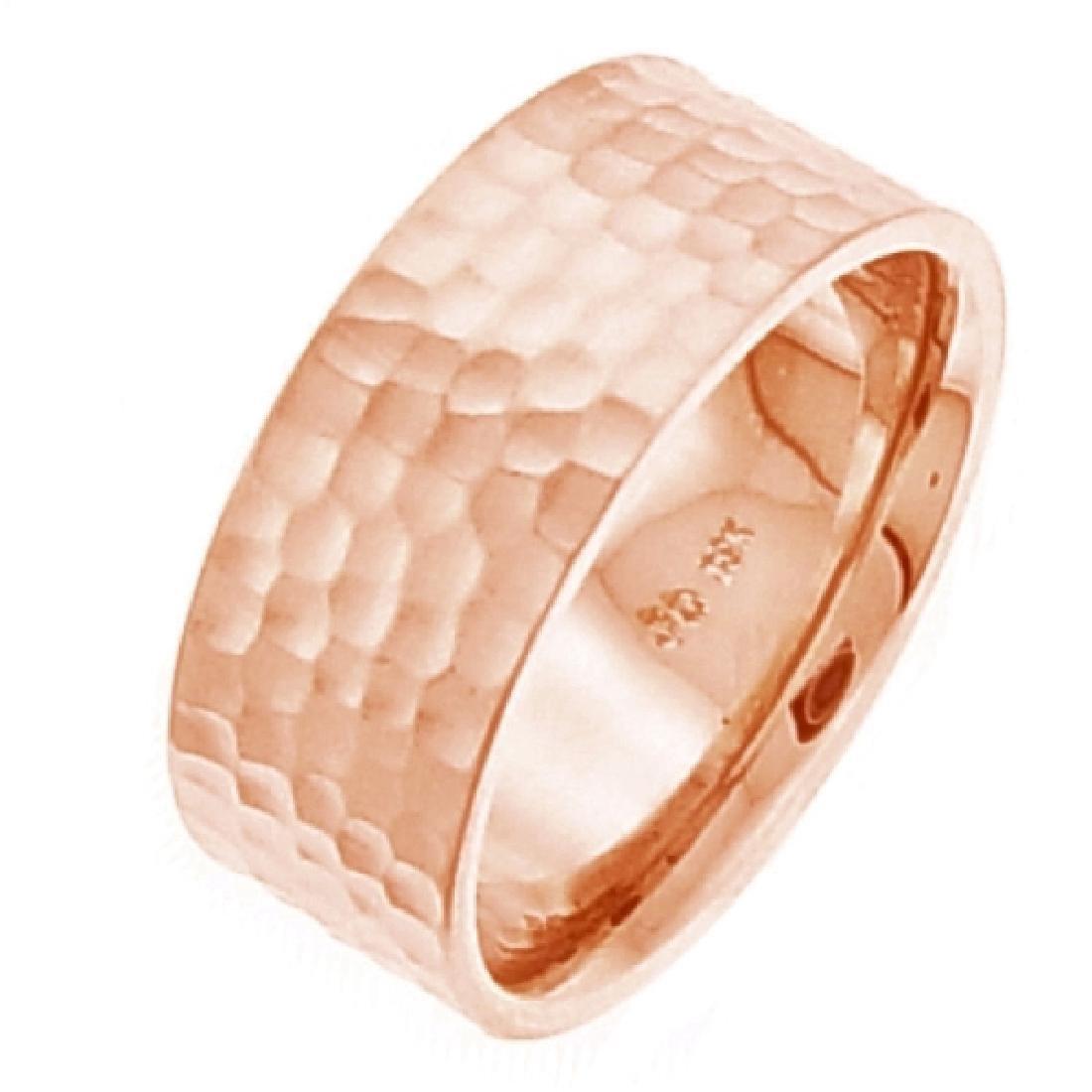 8 MM 14K Rose Gold Wedding Band Size 7