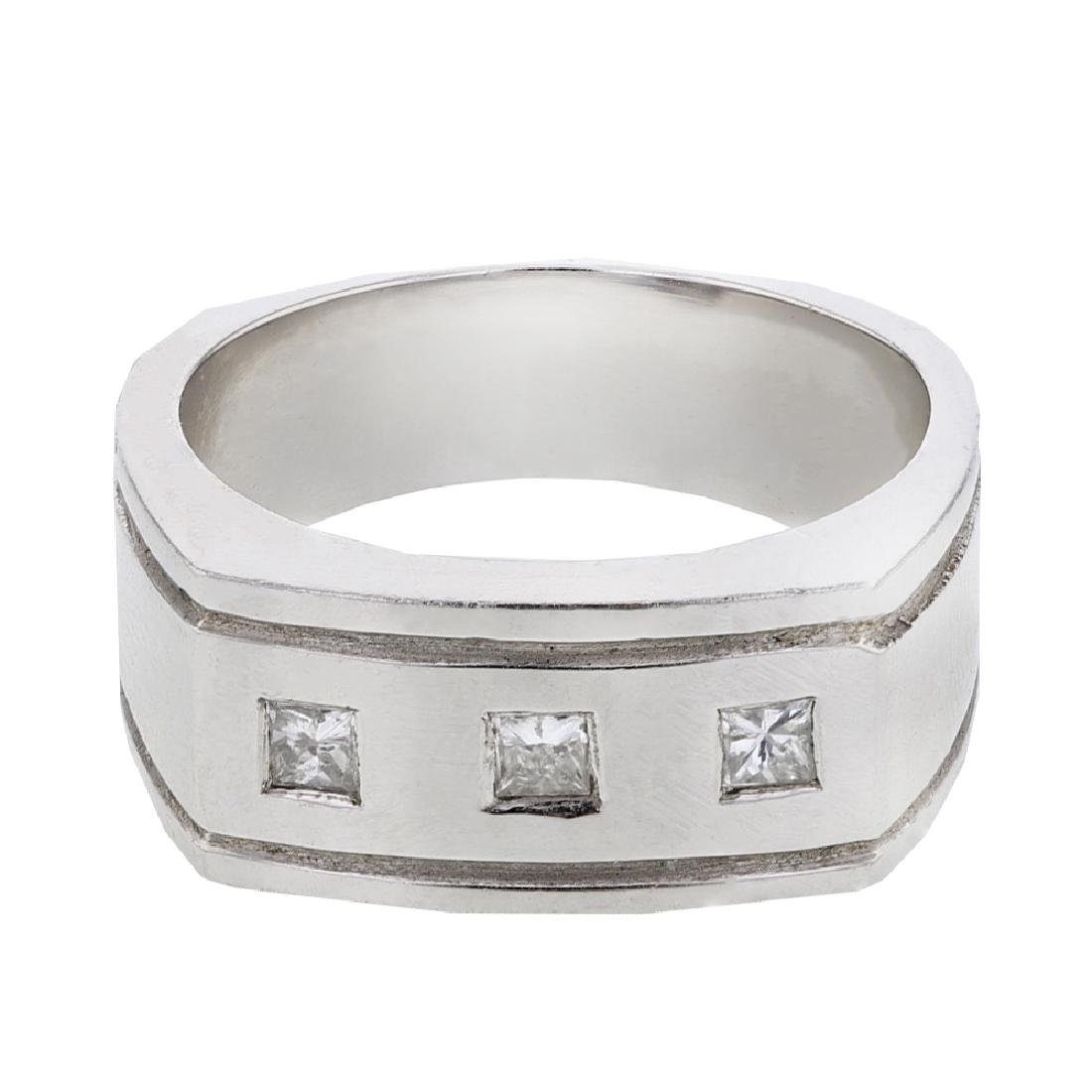 0.29 CTW Princess Diamond Ring 14K White Gold