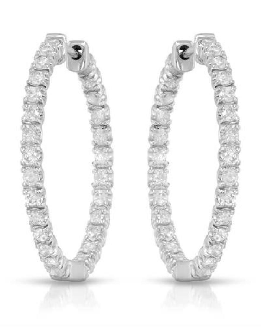 1.12 CTW White Round Diamond Earring 14K White Gold
