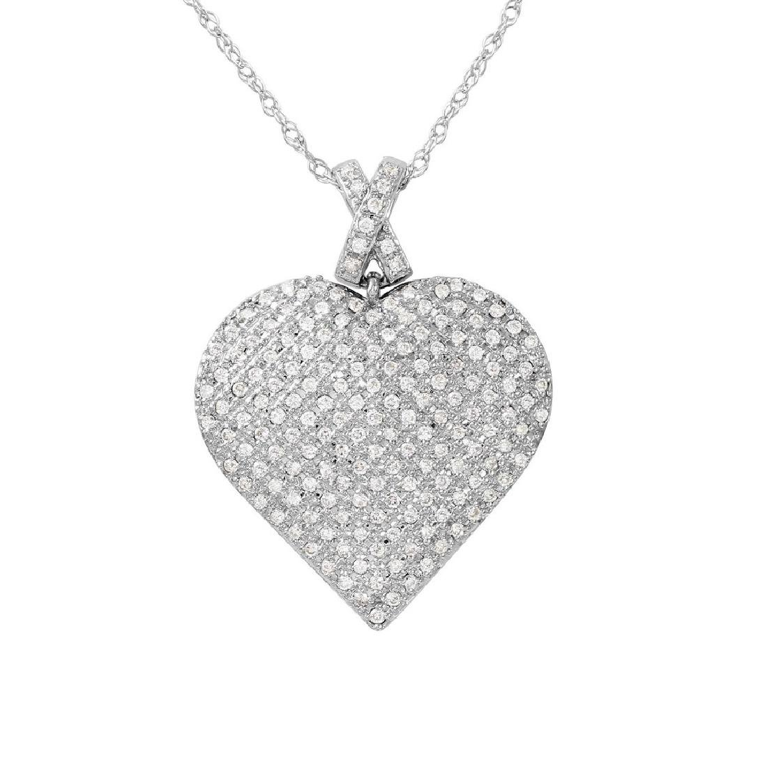 0.5 CTW White Round Diamond Slider with Chain 14K White