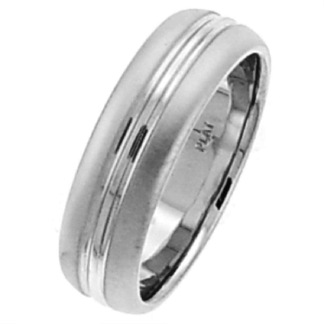6 MM 14K White Gold Wedding Band Size 10