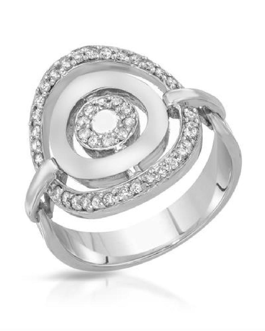 0.38 CTW White Round Diamond Ring 14K White Gold