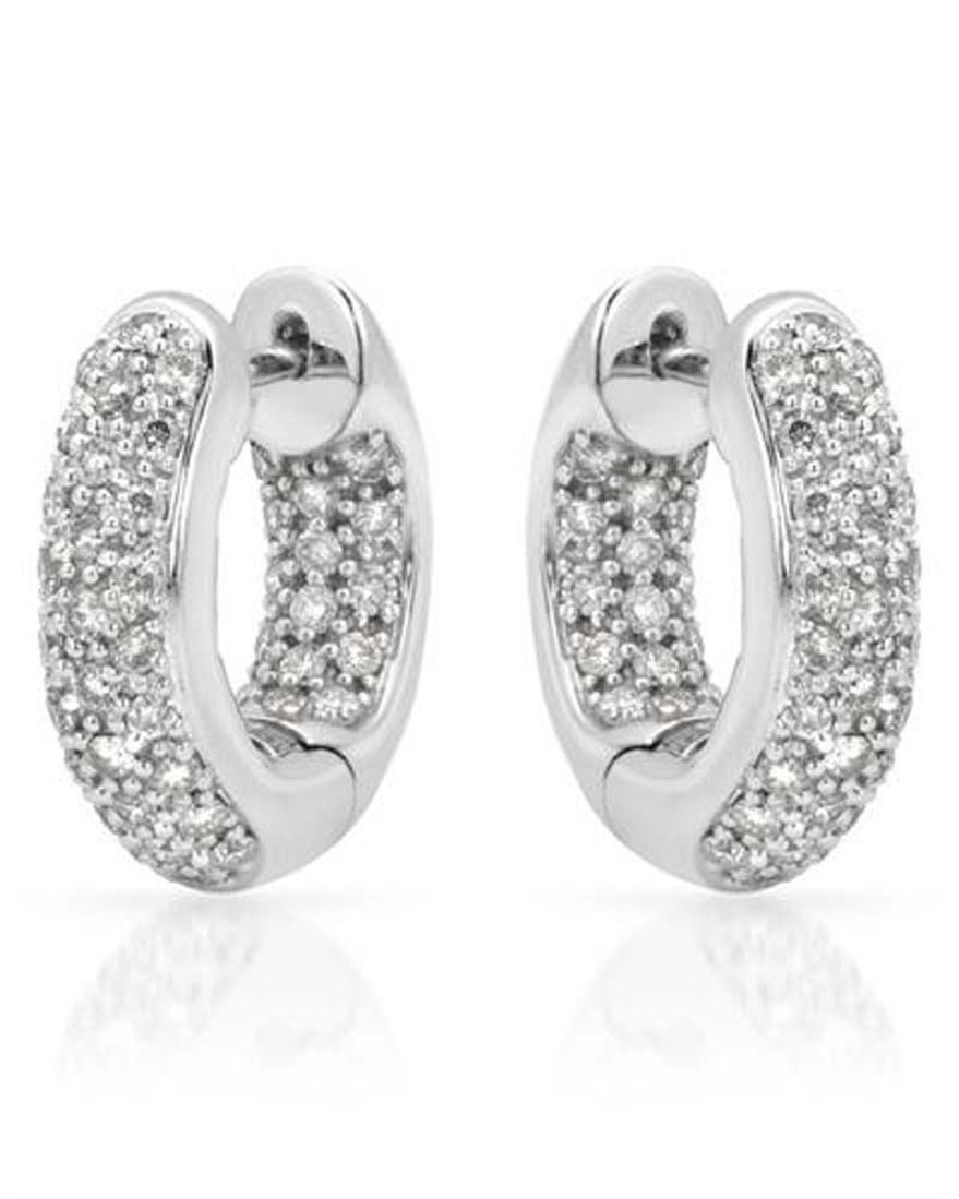 1.01 CTW White Round Diamond Earring 14K White Gold