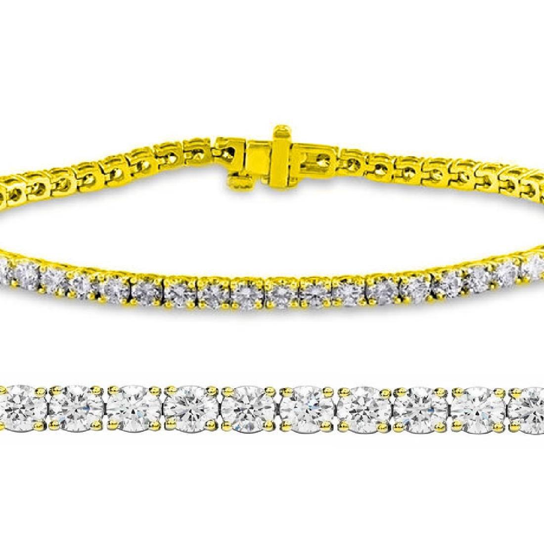 2ct VS-SI Diamond Tennis Bracelet 18K Yellow Gold