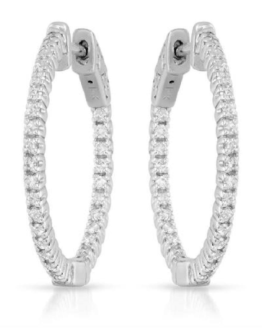 0.51 CTW White Round Diamond Earring 14K White Gold