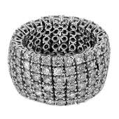 6.79 CTW White Round Diamond Ring 14K White Gold