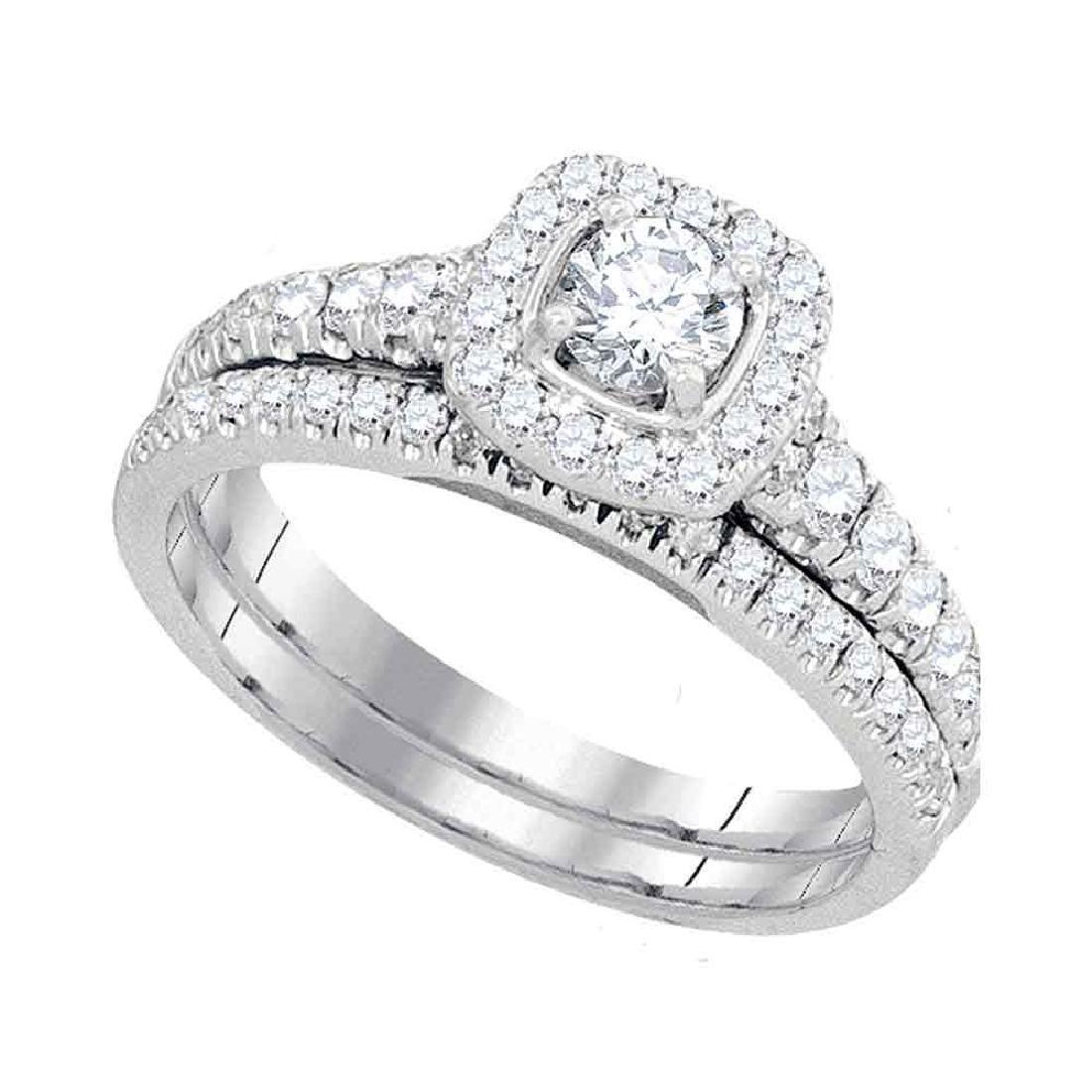 1.01 CTW Diamond Bridal Wedding Engagement Ring 14KT