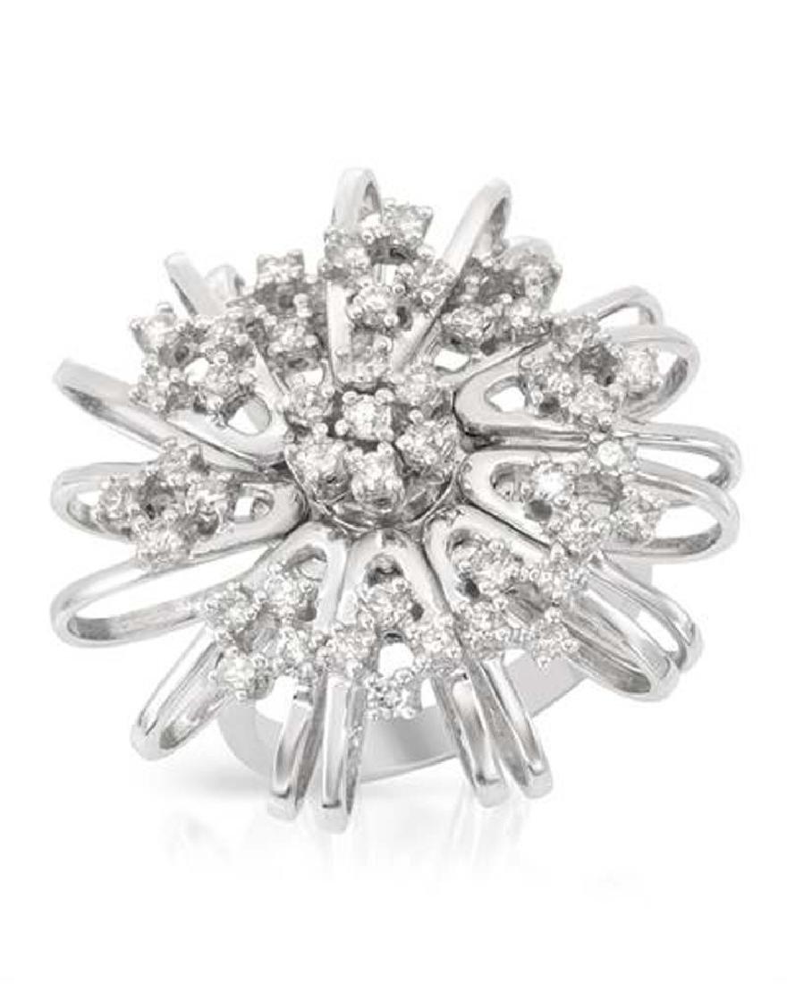 1.06 CTW White Round Diamond Ring 14K White Gold