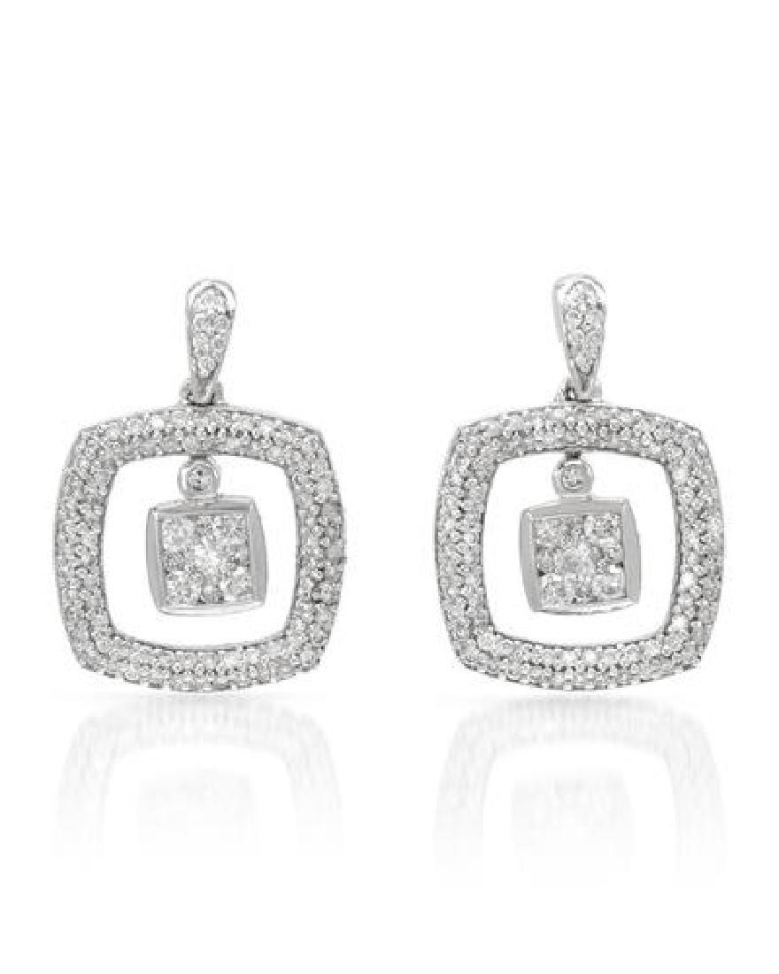 1 CTW White Round Diamond Earring 14K White Gold