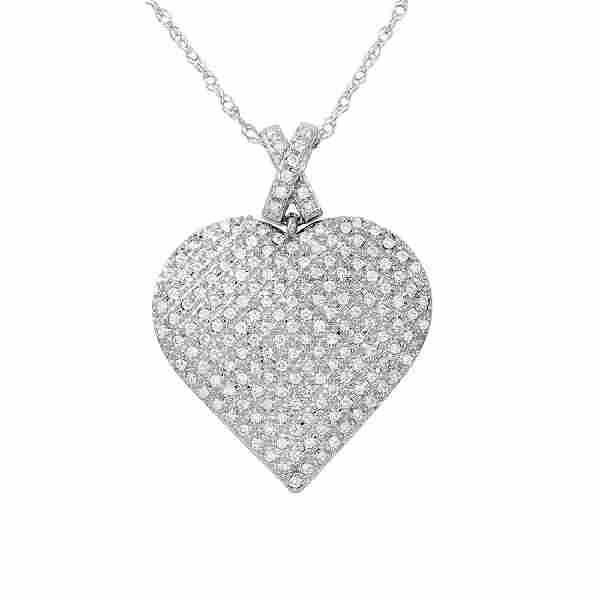 05 CTW White Round Diamond Slider with Chain 14K White