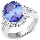 602 CTW Tanzanite Diamond Ring 14K White Gold