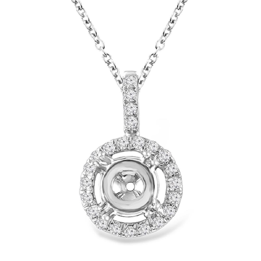 0.17 CTW White Round Diamond Pendant 14K Yellow Gold
