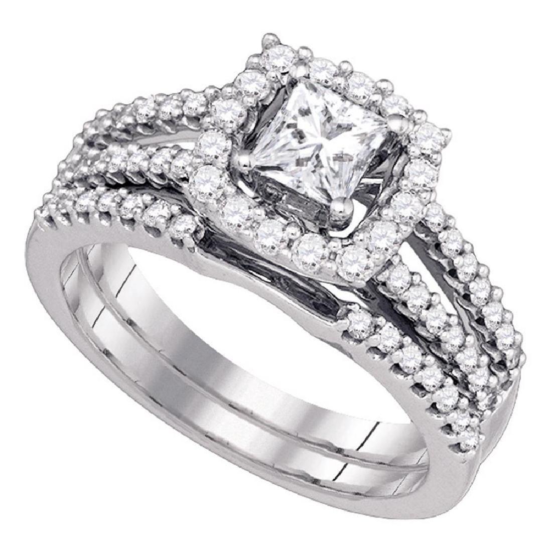1 CTW Princess Diamond Bridal Engagement Ring 14k White