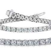 10ct VS-SI Diamond Tennis Bracelet 18K White Gold