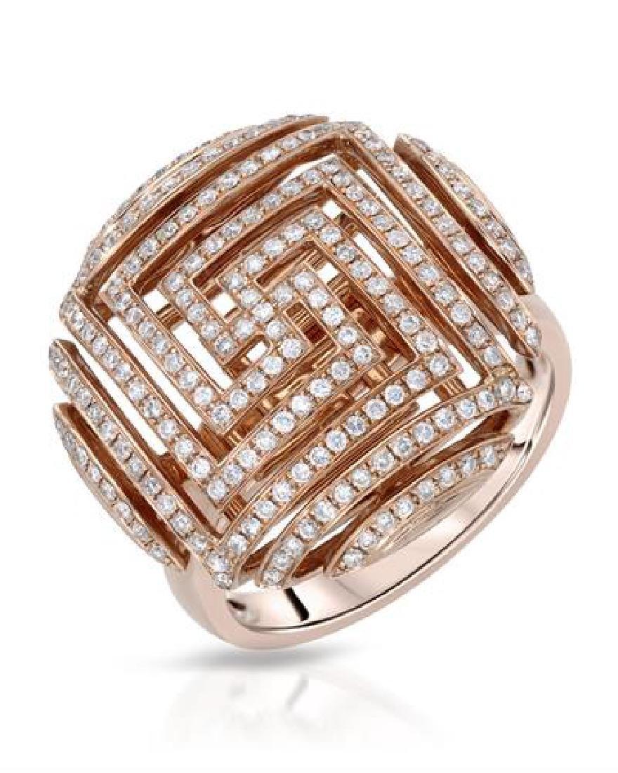 0.56 CTW White Round Diamond Ring 14K Rose Gold