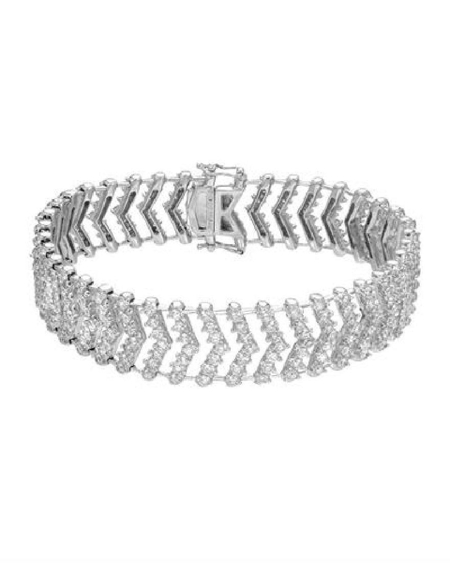7.68 CTW White Round Diamond Bracelet 14K White Gold