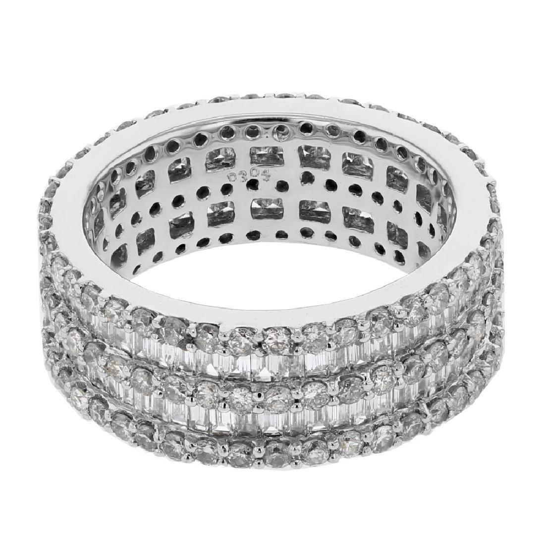 1.99 CTW Baguette & White Round Diamond Ring 18K White