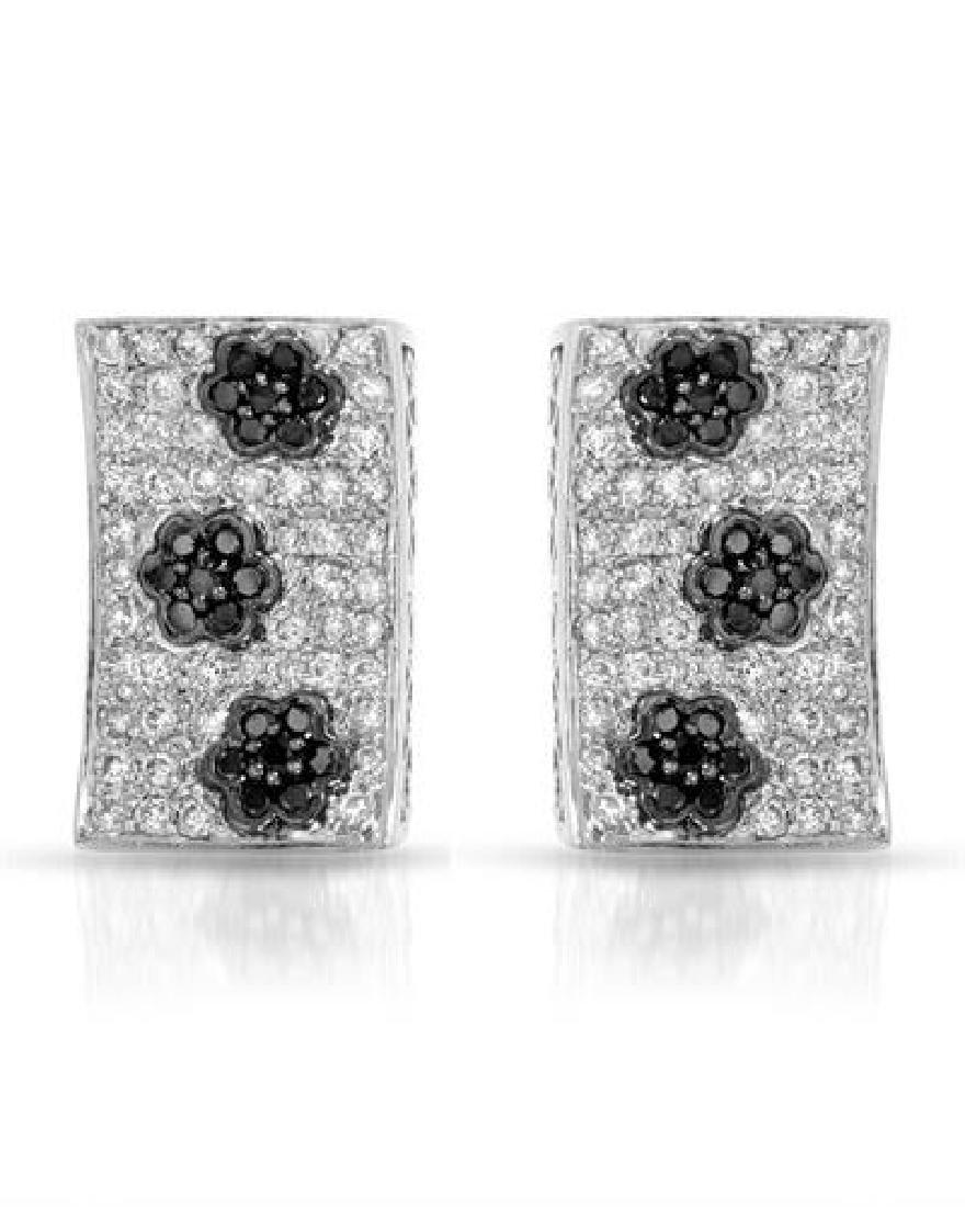 1.59 CTW White Round Diamond & Black Round Diamond
