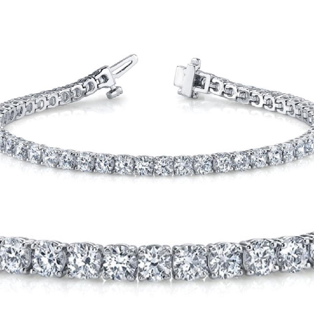 4ct VS-SI Diamond Tennis Bracelet Platinum
