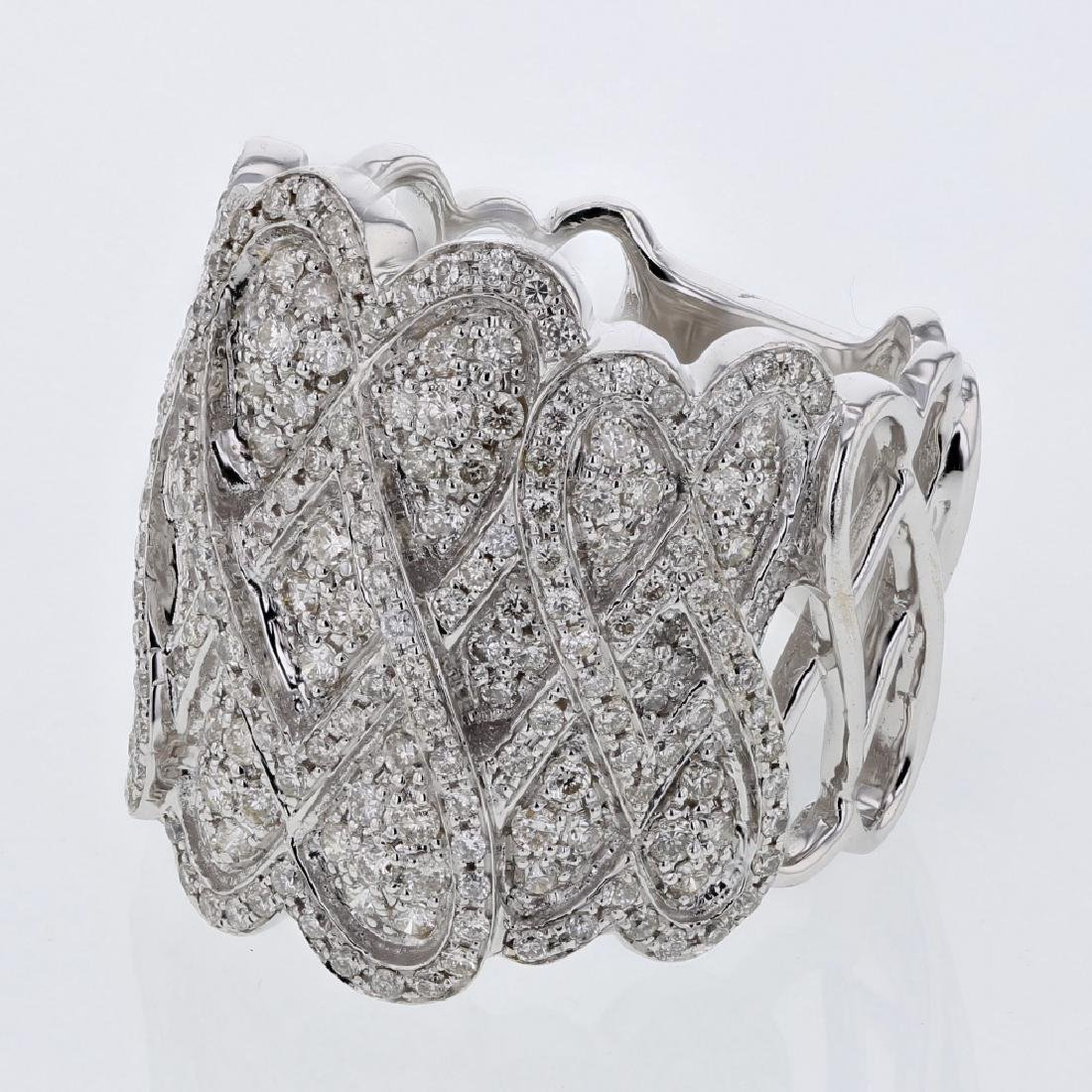 1.31 CTW White Round Diamond Ring 14K White Gold
