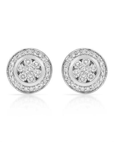 Genuine 1.10 CTW White Diamond 14K White Gold Earrings