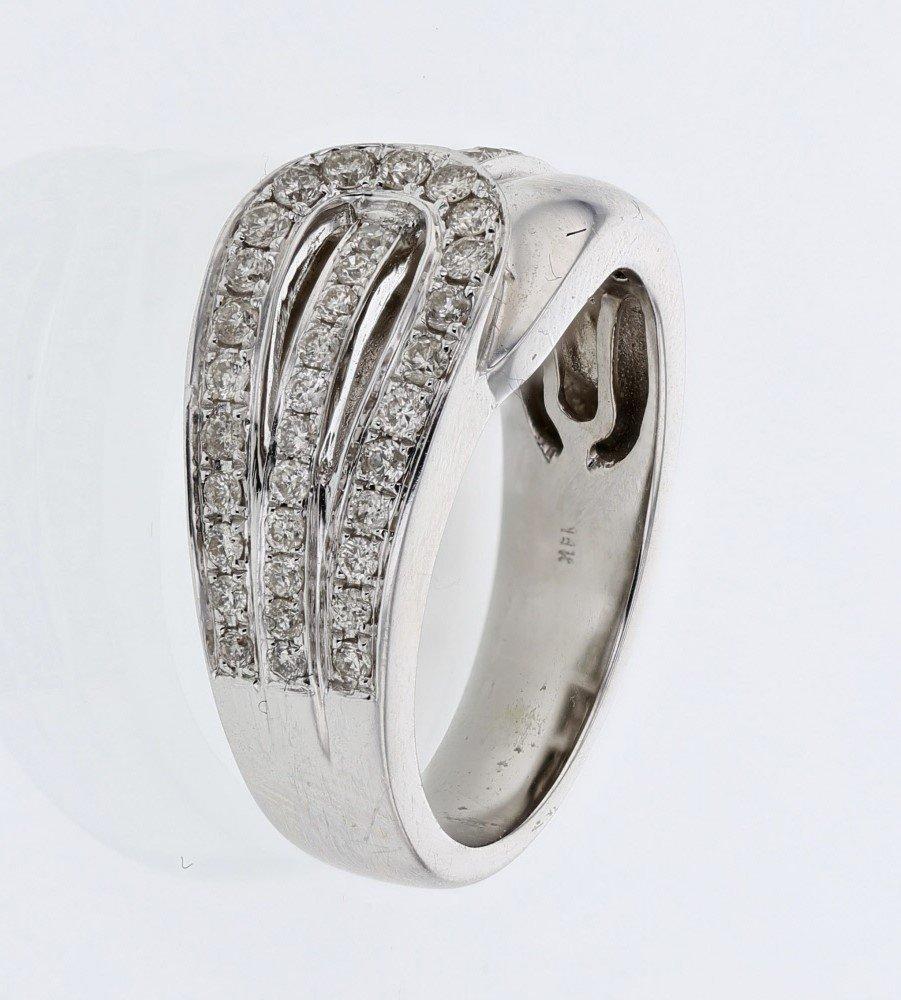 Diamond Buckle Ring in 14K White Gold