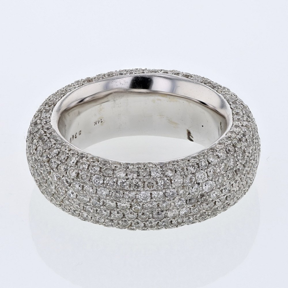 8-row Pave-set Round Diamond Eternity Ring in 14K White