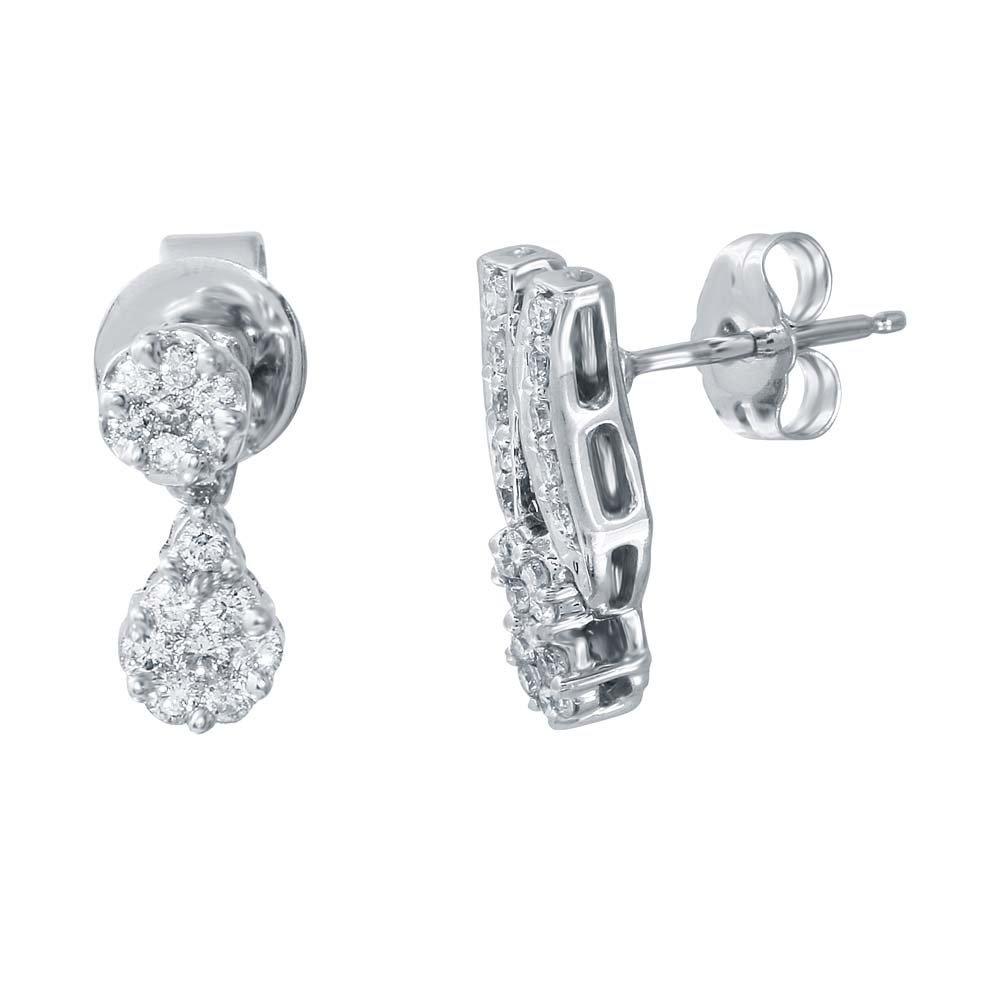 0.25 CTW 14K White Gold Ladies Earring
