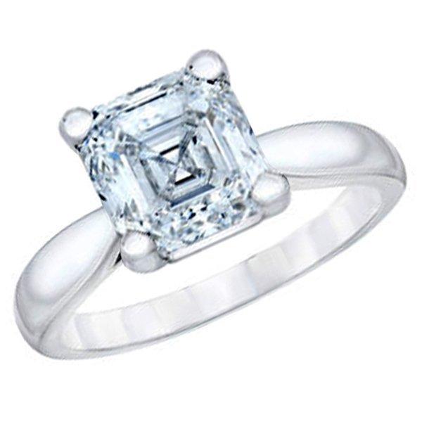 3.01 CT Emerald Cut Diamond 18K Gold Ring GIA Cert
