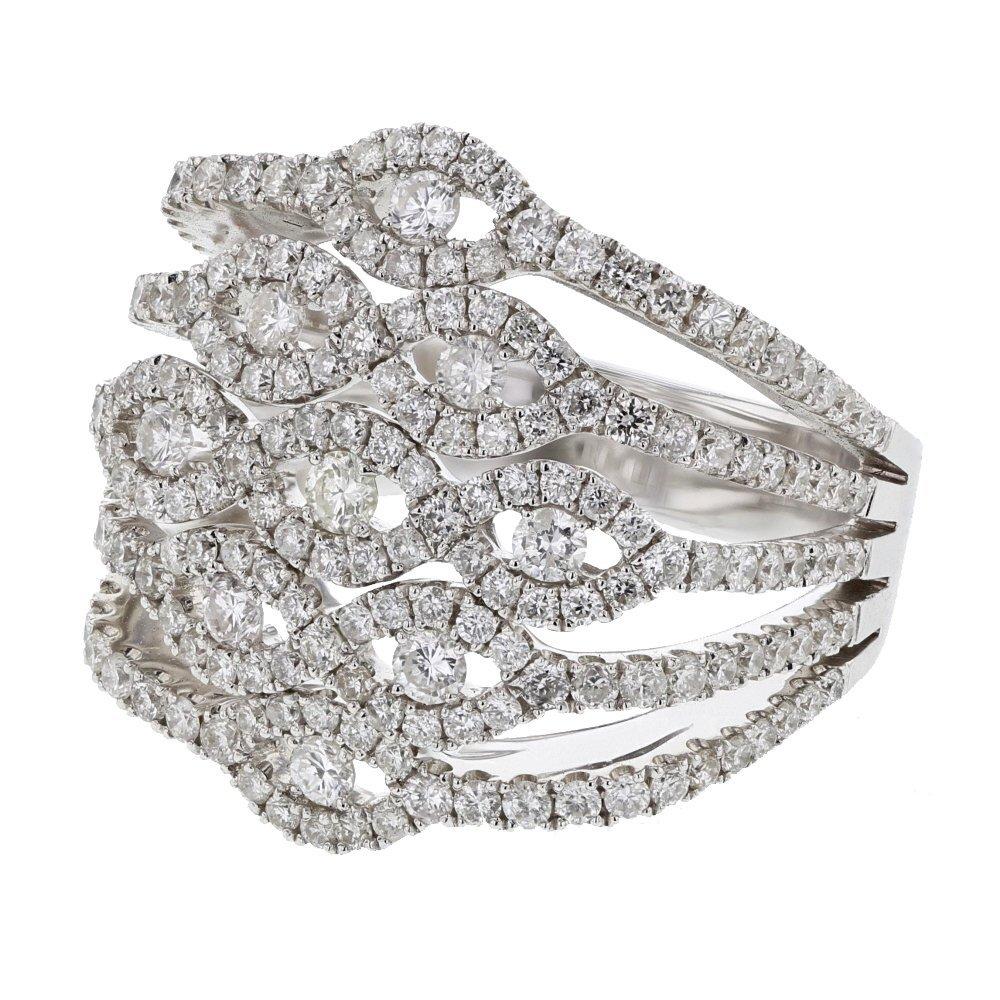 Elegant Wide Cocktail Pave-set Diamond Ring in 14K