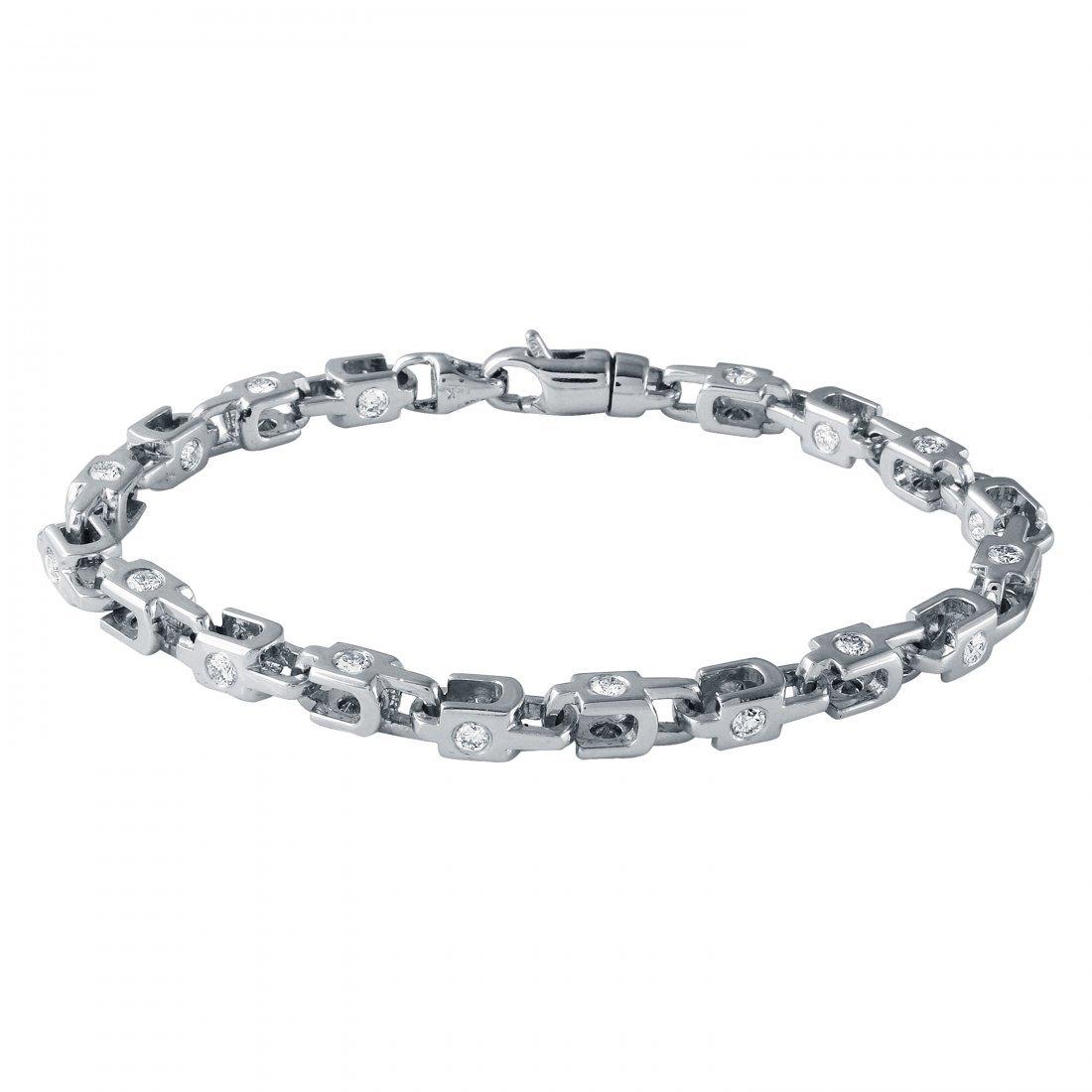 3.43 CTW 14K White Gold Ladies Bracelet