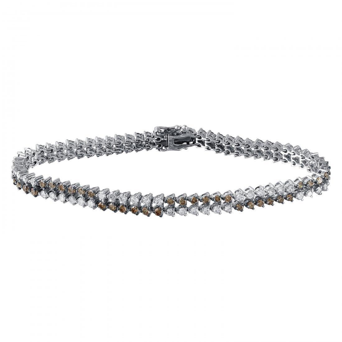 3.89 CTW 14K White Gold Ladies Bracelet