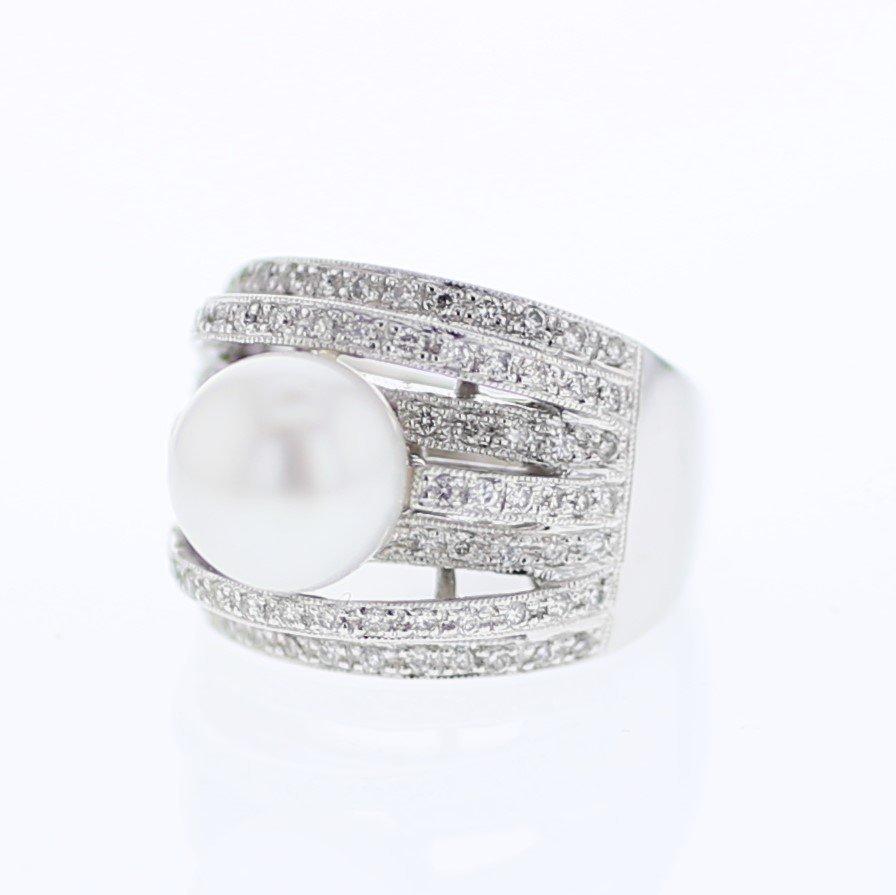 7.27 CTW 18K White Gold Ladies Ring