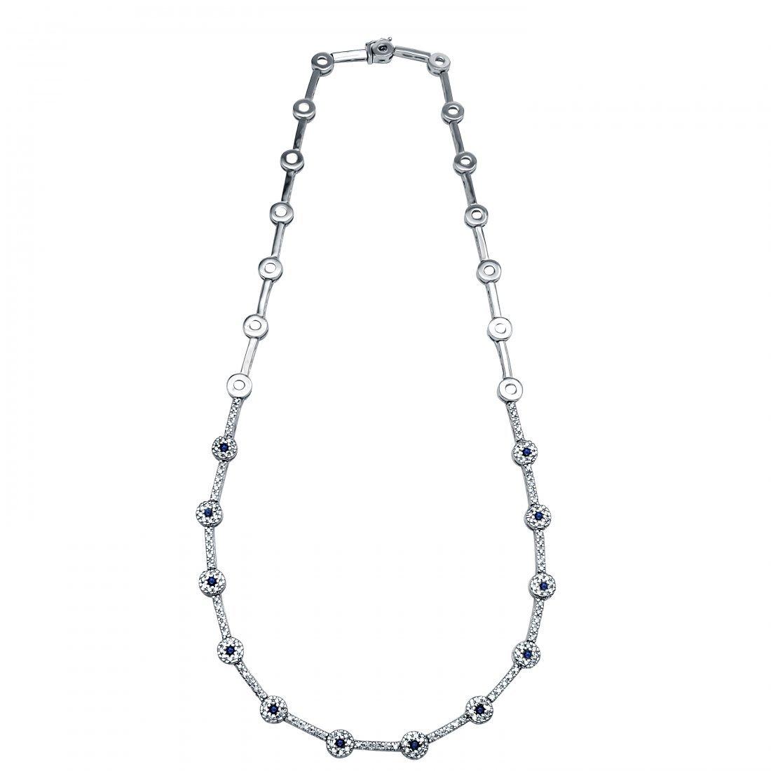 1.83 CTW 18K White Gold Ladies Necklace