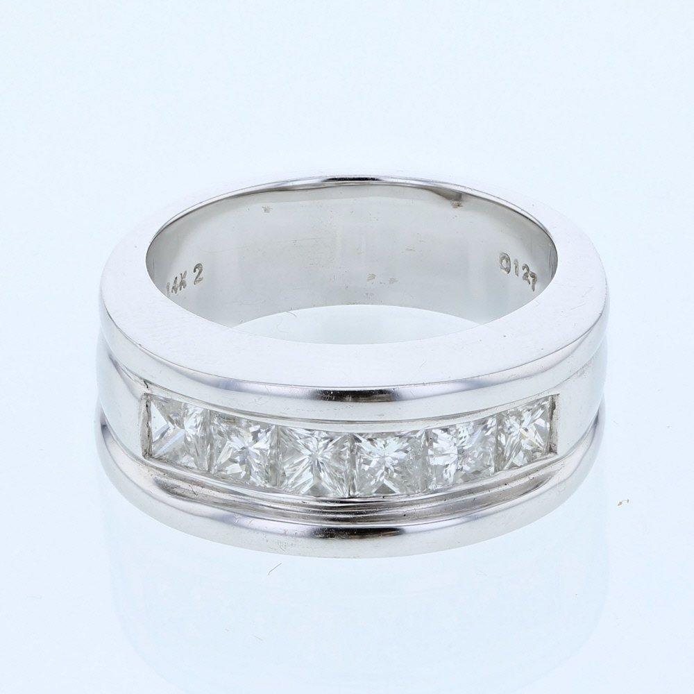 Gents Princess-cut Channel-set Diamond Ring  in 14K