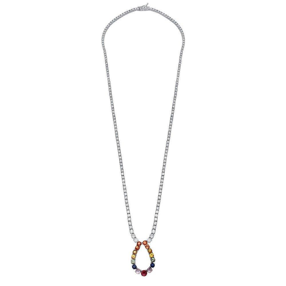 10.13 CTW 18K White Gold Ladies Necklace