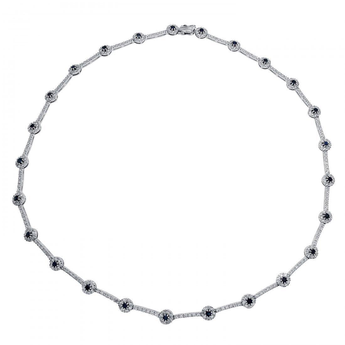5.15 CTW 14K White Gold Ladies Necklace