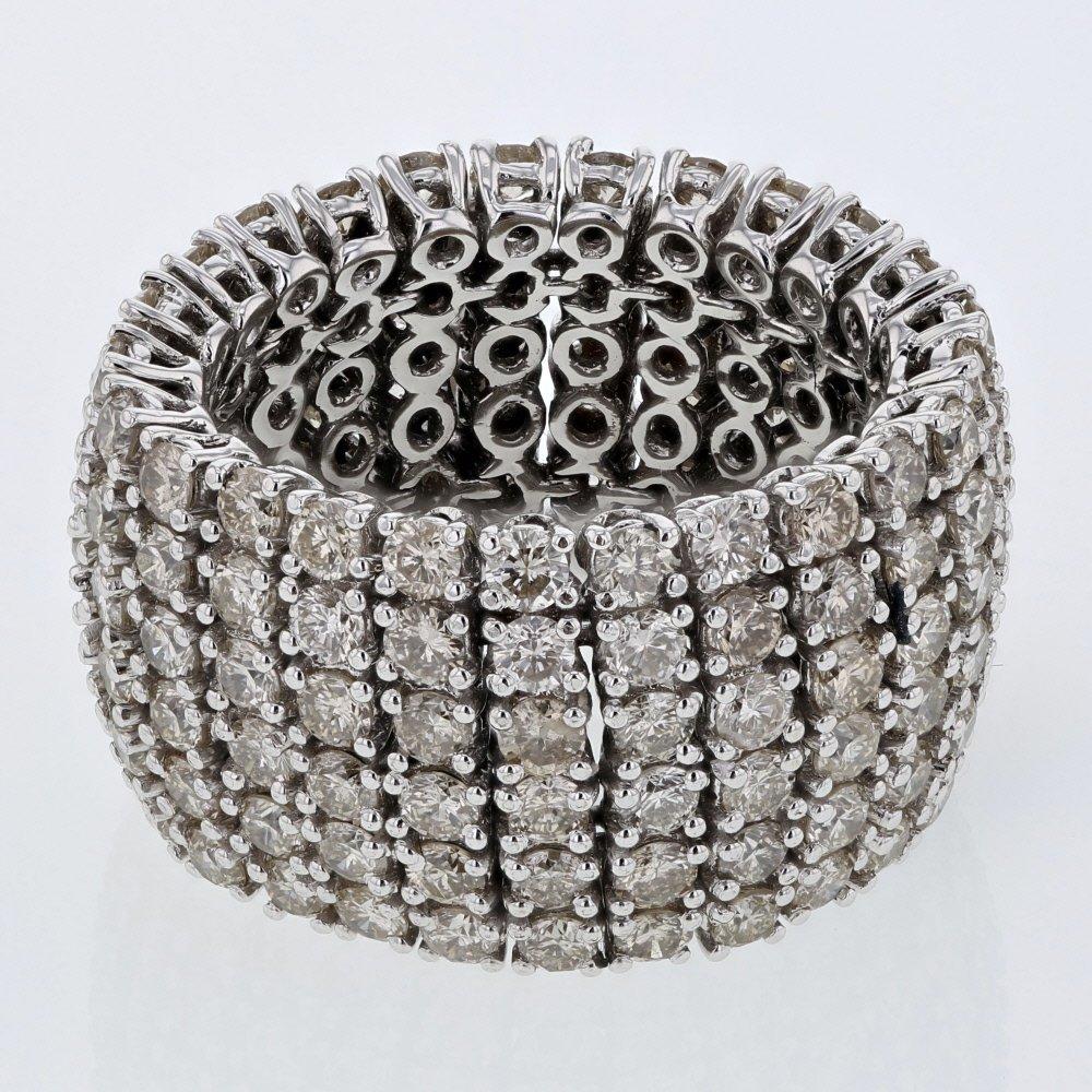 Wide Prong-set Diamond Eternity Ring in 14K White Gold