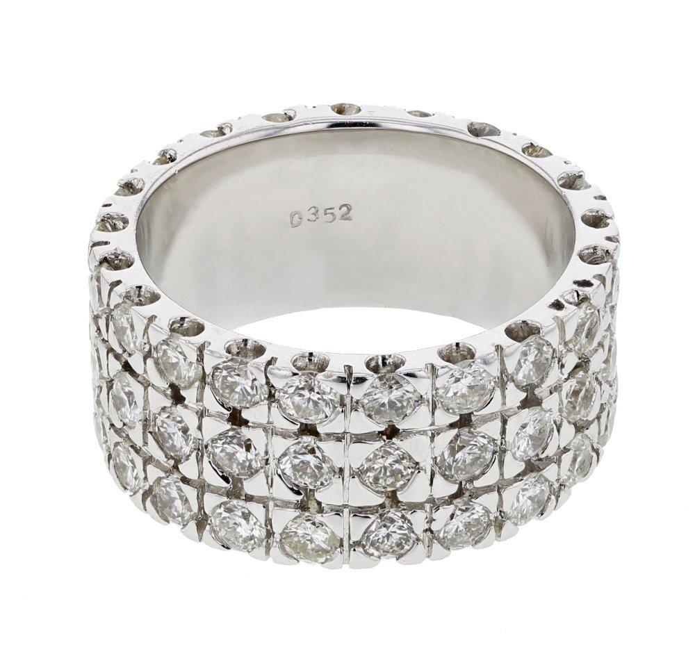 3.27 CTW 14K White Gold Ladies Ring